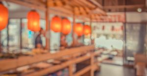 Abstract Blurred background image of japan restaurant.